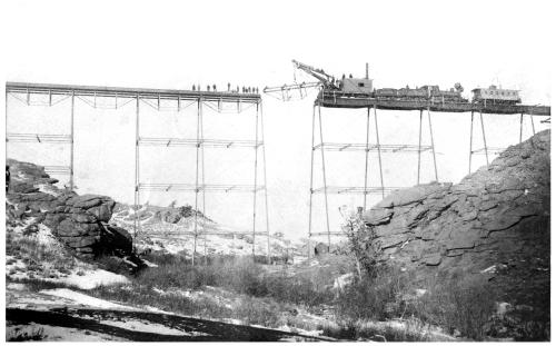 Sub Neg 9788, 12236, 12584, place last piece of Dale Creek Bridge, near Sherman